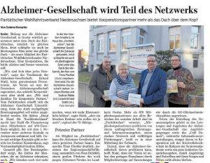 Alzheimer-Gesellschaft Goslar wird Teil des Netzwerks